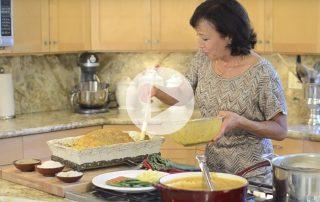 Miyoko Schinner prepares her vegan roast turkey