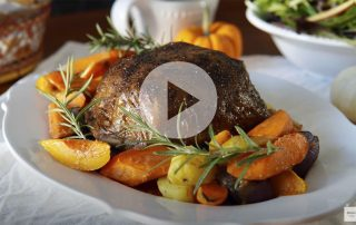 Vegan Turkey Roast with Crispy Skin