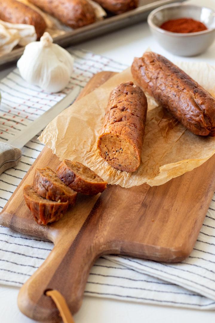 vegan andouille sausage