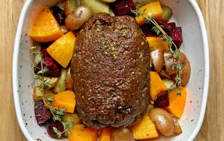 vegan washed flour roast beef