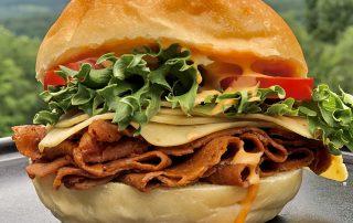 vegan roast beef sandwich